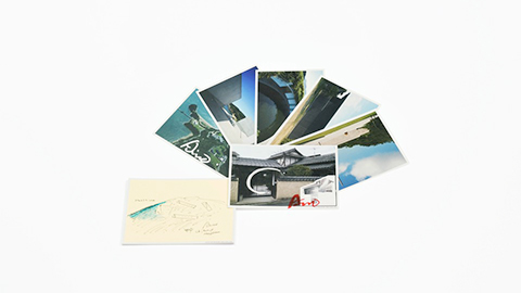Naoshima postcard set / Chichu Art Museum postcard set  set of 6 cards JPY800(tax included)