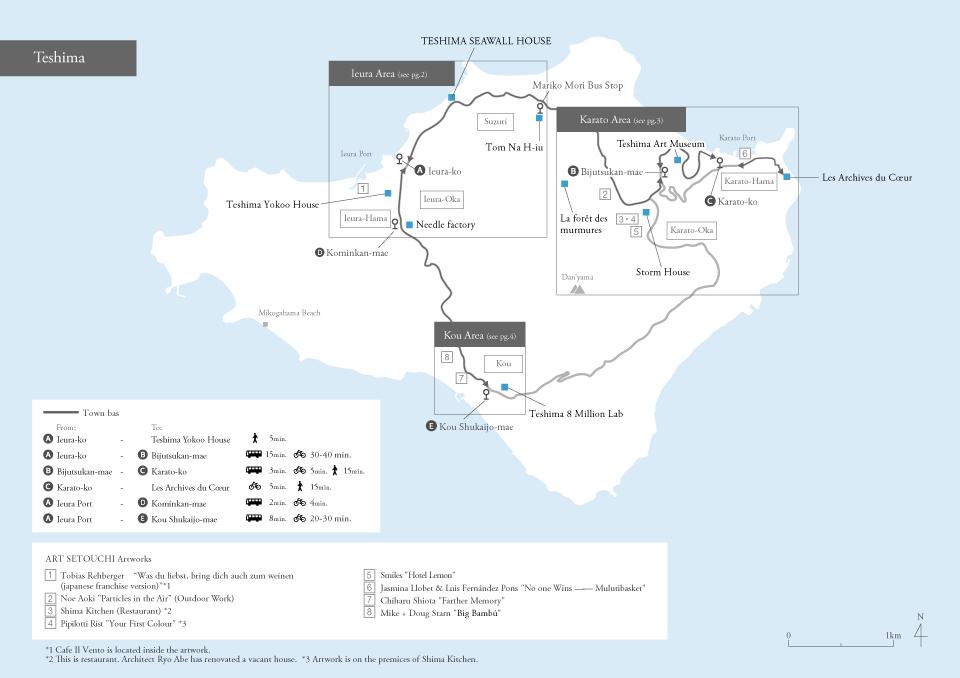 Getting Around On Teshima Access Benesse Art Site Naoshima - Japan map naoshima
