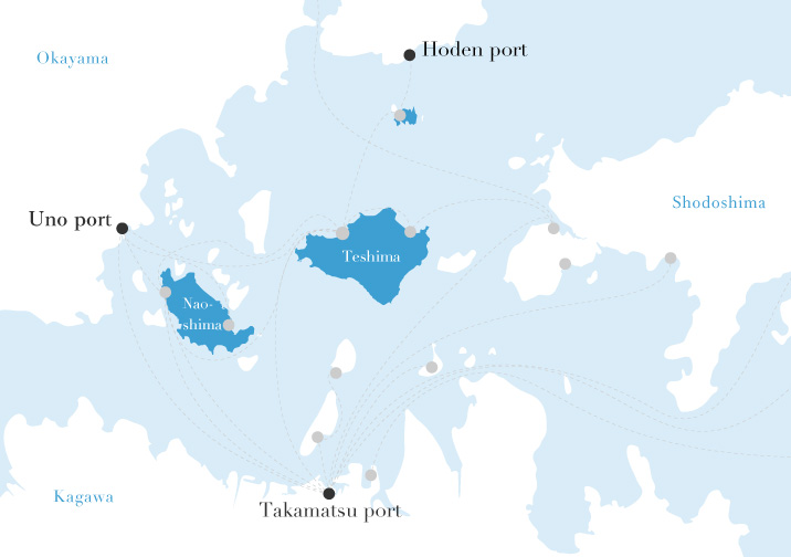 Access from major cities to the islands
